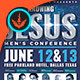 Knowing Jesus Men's Conference Flyer Template - GraphicRiver Item for Sale