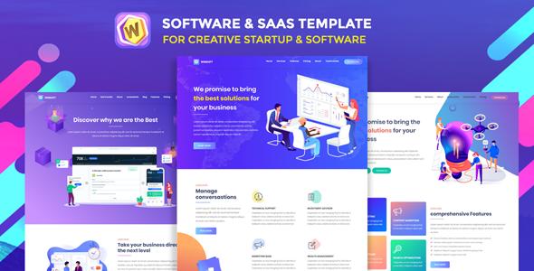 Winsoft - Saas & Software  Landing Page