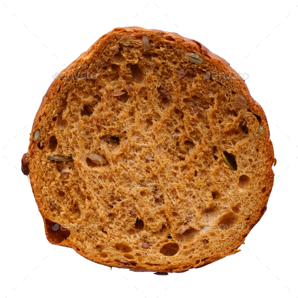 Single round multigrain bun - Stock Photo - Images