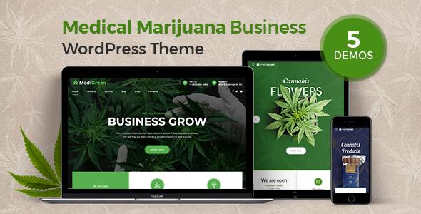 MediGreen – Medical Marijuana WordPress Theme Free Download