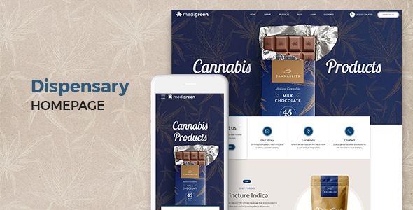 MediGreen - Medical Marijuana & Dispensary WordPress Theme