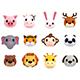 Cartoon Animal Head Pack - 3DOcean Item for Sale