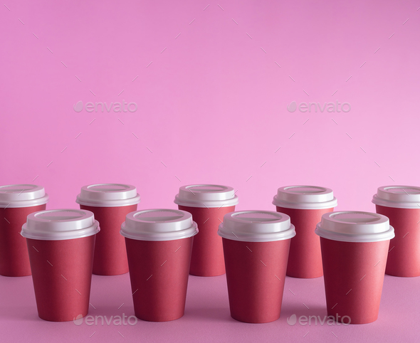 Disposable Coffee Cups Stock Photo By