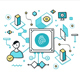 Authentication Technologies Color Line Concepts - GraphicRiver Item for Sale
