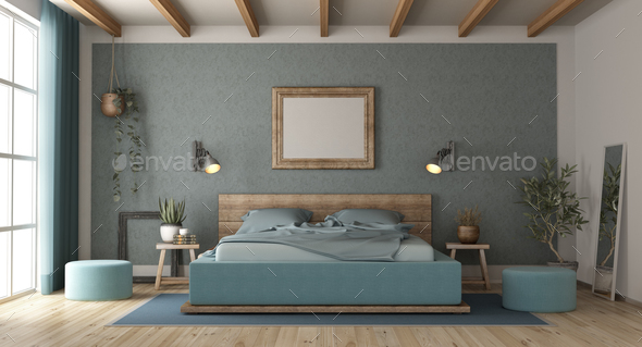 Master bedroom in retro style