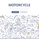 Motorcycle Lifestyle Doodle Concept - GraphicRiver Item for Sale