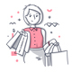 Happy Shopping Women Illustrations - GraphicRiver Item for Sale