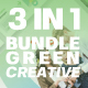 3 in 1 Green Powerpoint Template Bundle - GraphicRiver Item for Sale