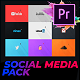 Flat Social Media Pack For Premiere Pro | Mogrt - VideoHive Item for Sale