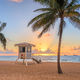 Fort Lauderdale, Florida, USA beach and life guard tower at sunr - PhotoDune Item for Sale
