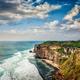 Cliff in ocean on sunset - PhotoDune Item for Sale