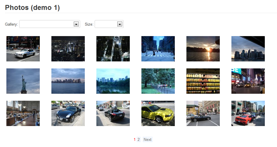 Smart jQuery Photos gallery