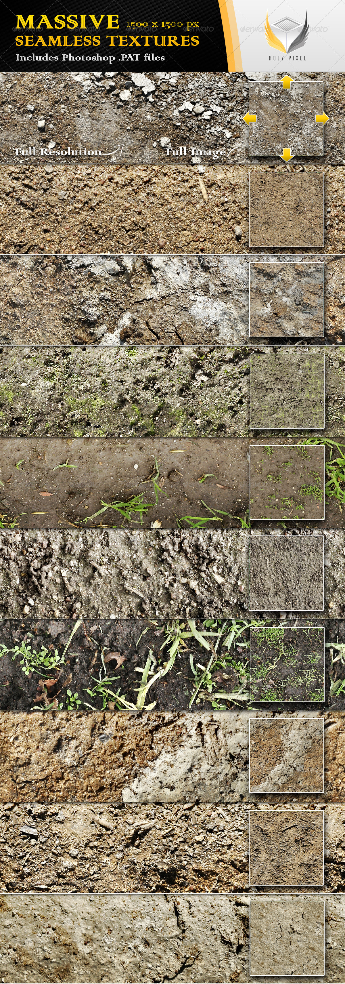 10 seamless dirt and soil textures by holypixel graphicriver for Soil texture