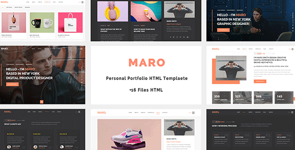 Maro - Personal Portfolio HTML Template
