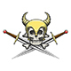 Viking Skull in Helmet with Swords - GraphicRiver Item for Sale