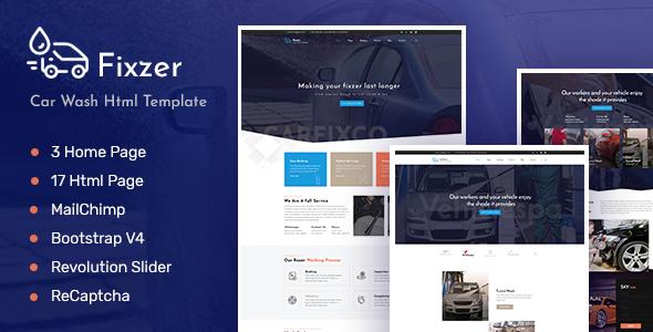 Fixzer - Car Service, Car Washing HTML Template