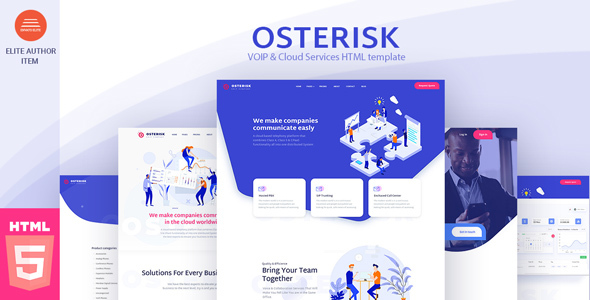 Osterisk: Saas, Startup & Agency HTML Template