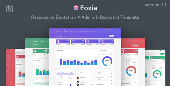 Foxia - Admin & Dashboard Template by Themesbrand