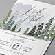 Pine Trees Wedding Invitation - GraphicRiver Item for Sale