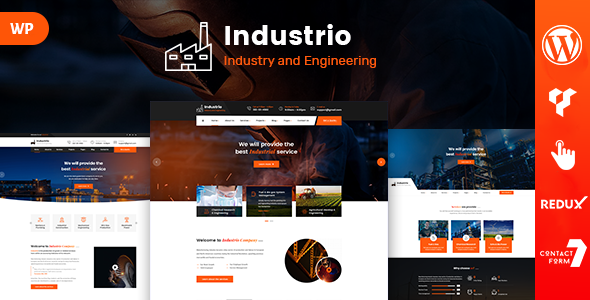 Industrio - Industrial Engineering WordPress