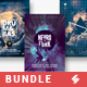 Drum and Bass vol.4 - Party Flyer / Poster Templates Bundle - GraphicRiver Item for Sale