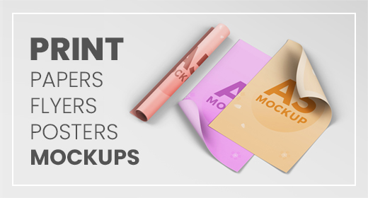 Print – Papers, Flyers, Posters Mockups