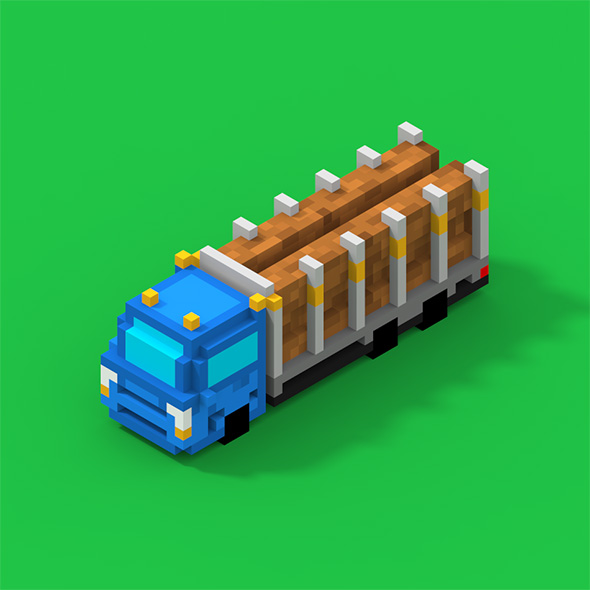 Voxel Truck With Logs