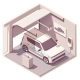 Vector Isometric Garage and Electric Vehicle - GraphicRiver Item for Sale