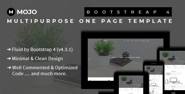 Mojo Bootstrap 4 Multipurpose One Page Template By Theme Xpress