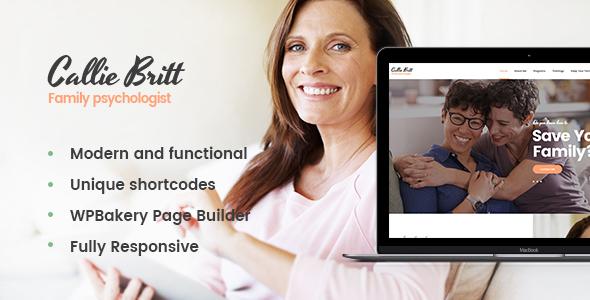 Download Callie Britt | Family Counselling Psychology WordPress Theme nulled 01 CallieBritt