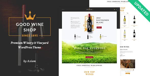 Good Wine   Vineyard & Winery Shop WordPress Theme
