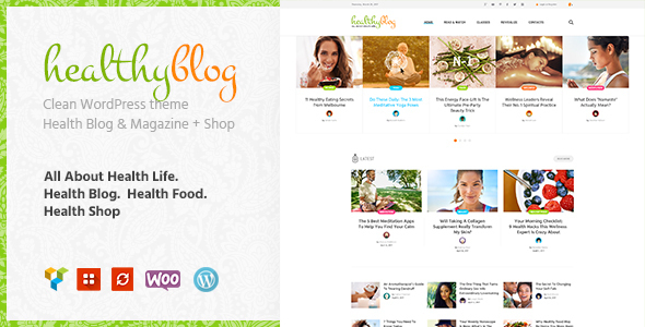 Healthy Living – Blog with Online Store WordPress Theme Free Download