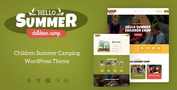 Hello Summer   A Children Holiday Camp WordPress Theme