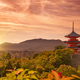 Kiyomizudera temple at sunset, Kyoto, Japan - PhotoDune Item for Sale