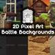 Battle Backgrounds Pixel Art - GraphicRiver Item for Sale