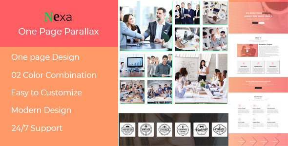 Nexa - One Page Parallax Muse Template