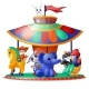 Animated Animals Ride the Carousel - GraphicRiver Item for Sale