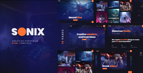 Sonix - Creative Portfolio Showcase Template