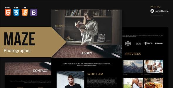 MAZE - Photography Portfolio HTML Template