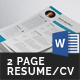 Modern Resume/CV (2 Page) - GraphicRiver Item for Sale
