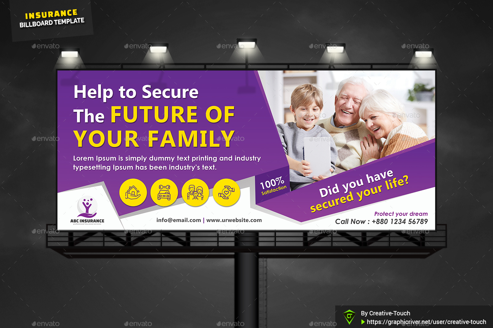 Insurance Business Billboard by Creative-Touch | GraphicRiver