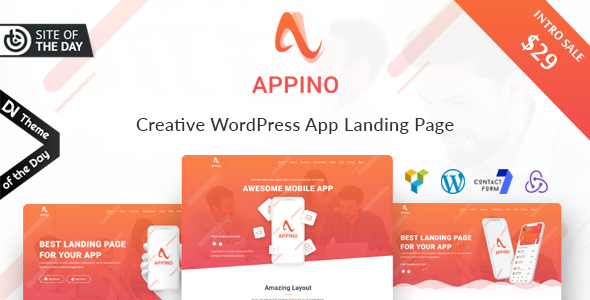 Download Appino – Creative WordPress App Landing Page nulled Theme 20Preview