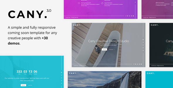 Awesome Cany - Responsive Coming Soon Template