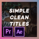 Simple Titles - VideoHive Item for Sale