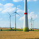 Wind turbines and agricultural fields on a summer day - PhotoDune Item for Sale