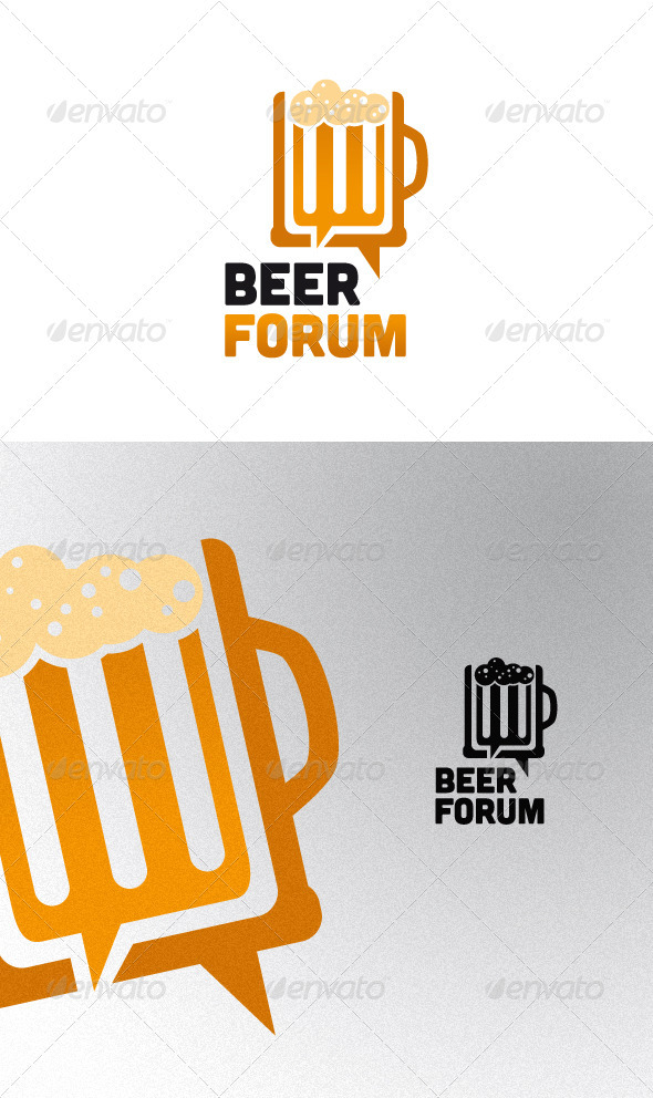 Beer Forum Logo Template - Objects Logo Templates
