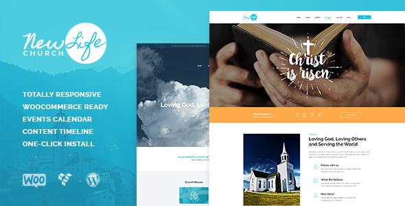 New Life   Church & Religion WordPress Theme