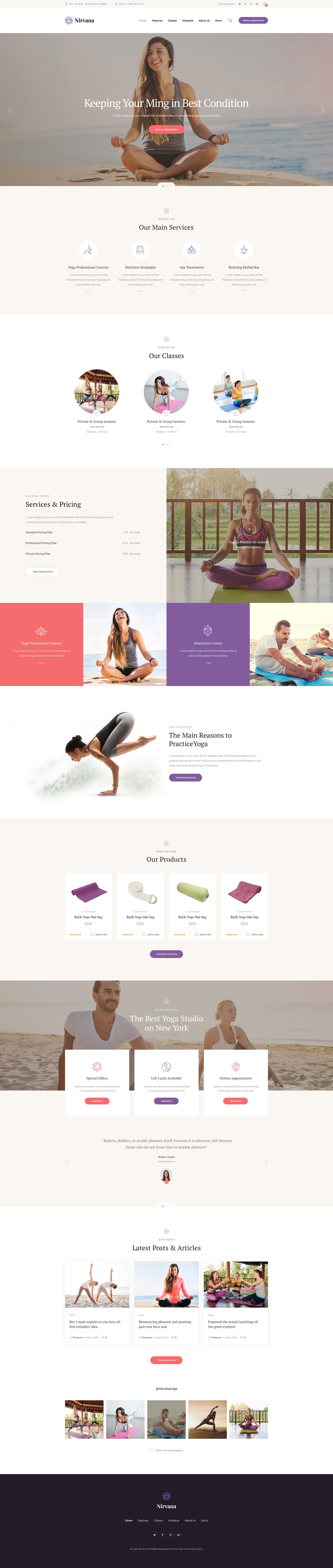 Nirvana Yoga Studio And Fitness Club Wordpress Theme By Axiomthemes