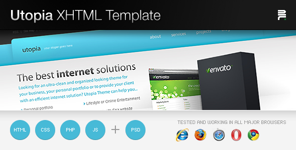 Free Download Utopia XHTML Template Nulled Latest Version
