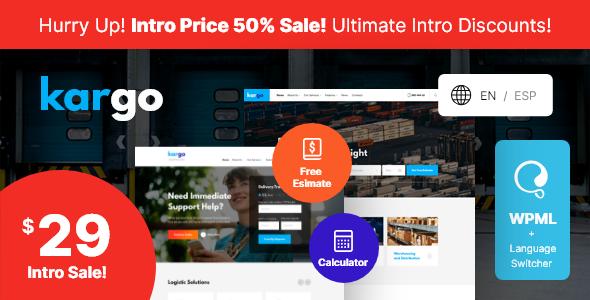 Kargo | Logistics & Transportation WordPress Theme Free Download